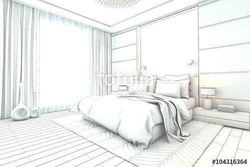 Best Architectural Sketch Interior Modern Bedroom Design With Pictures