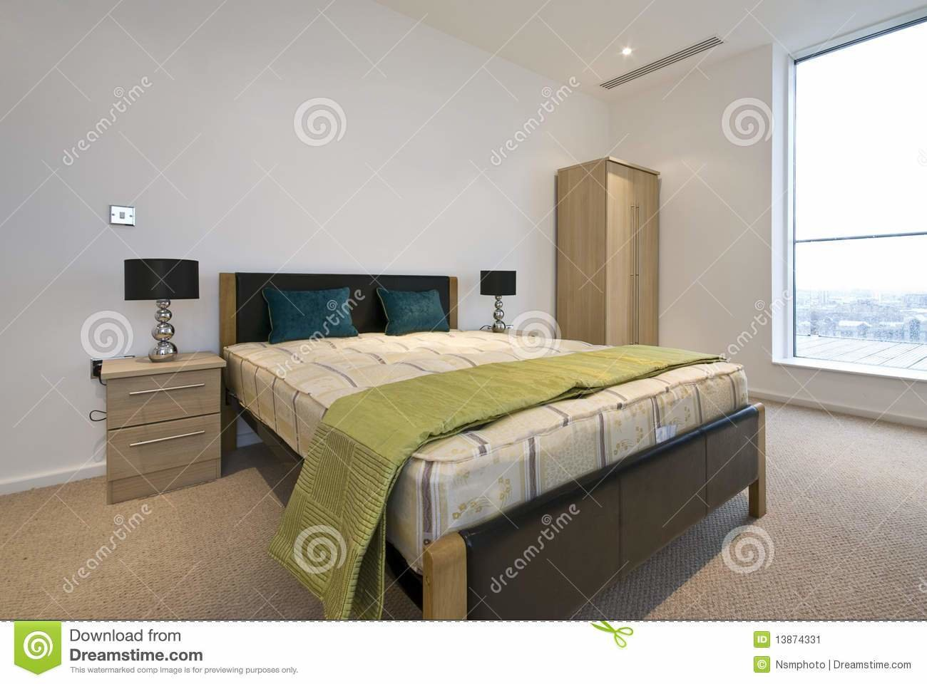 Best Modern Double Bedroom With King Size Bed Stock Image Image Of Built King 13874331 With Pictures