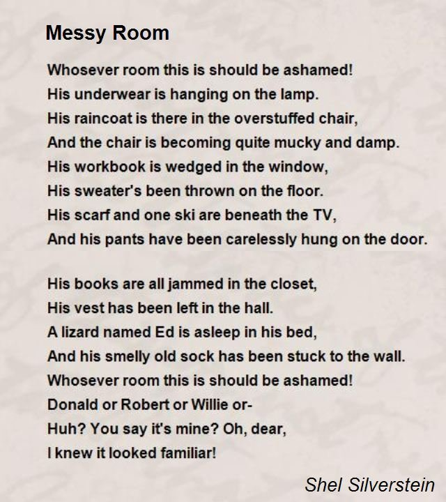 Best Messy Room Poem By Shel Silverstein Poem Hunter With Pictures