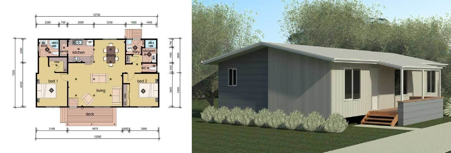 Best The Drysdale 2 Bedroom 2 Bathroom Modular Home Parkwood Homes With Pictures