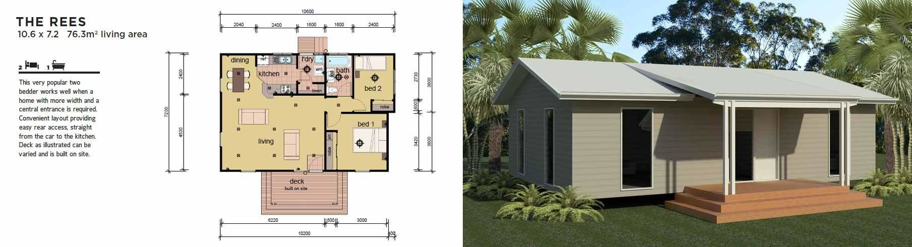 Best The Rees 2 Bedroom Modular Home Parkwood Homes With Pictures