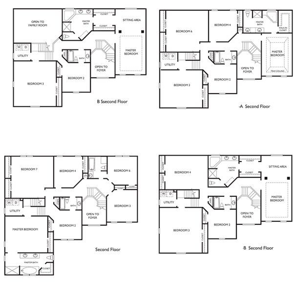 Best 4 Bedroom 2 Story House Plans Two Story Floor Plan Ideas With Pictures