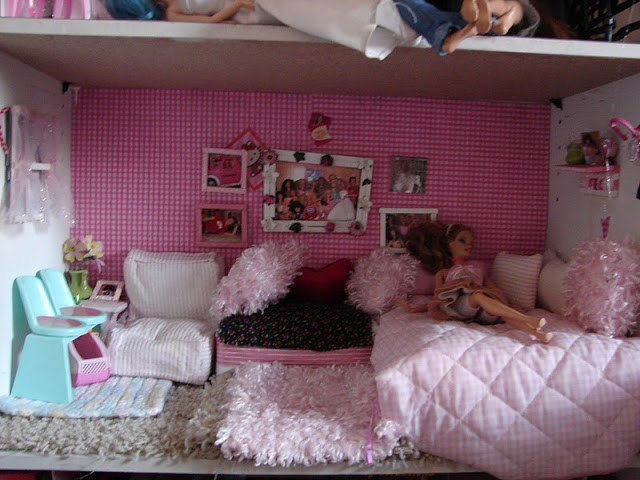 Best Diy Barbie House From A Shelf A Girl And A Glue Gun With Pictures