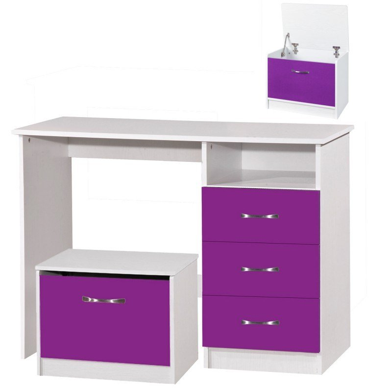 Best Marina Purple Gloss White Dressing Table Ark Furniture With Pictures