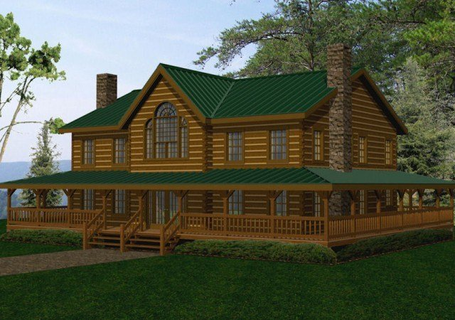 Best Large Log Homes Cabins Kits Floor Plans Battle Creek With Pictures