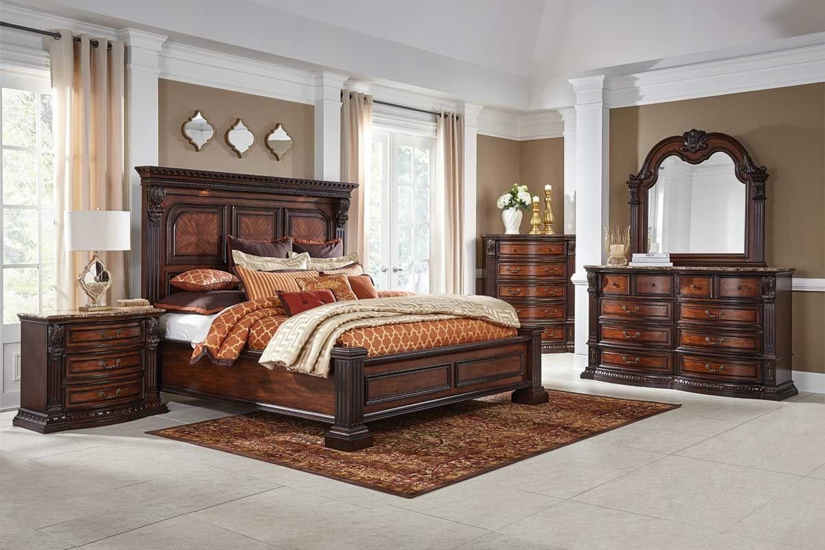 Best Grand Estate 5 Pc King Bedroom Group Badcock More With Pictures