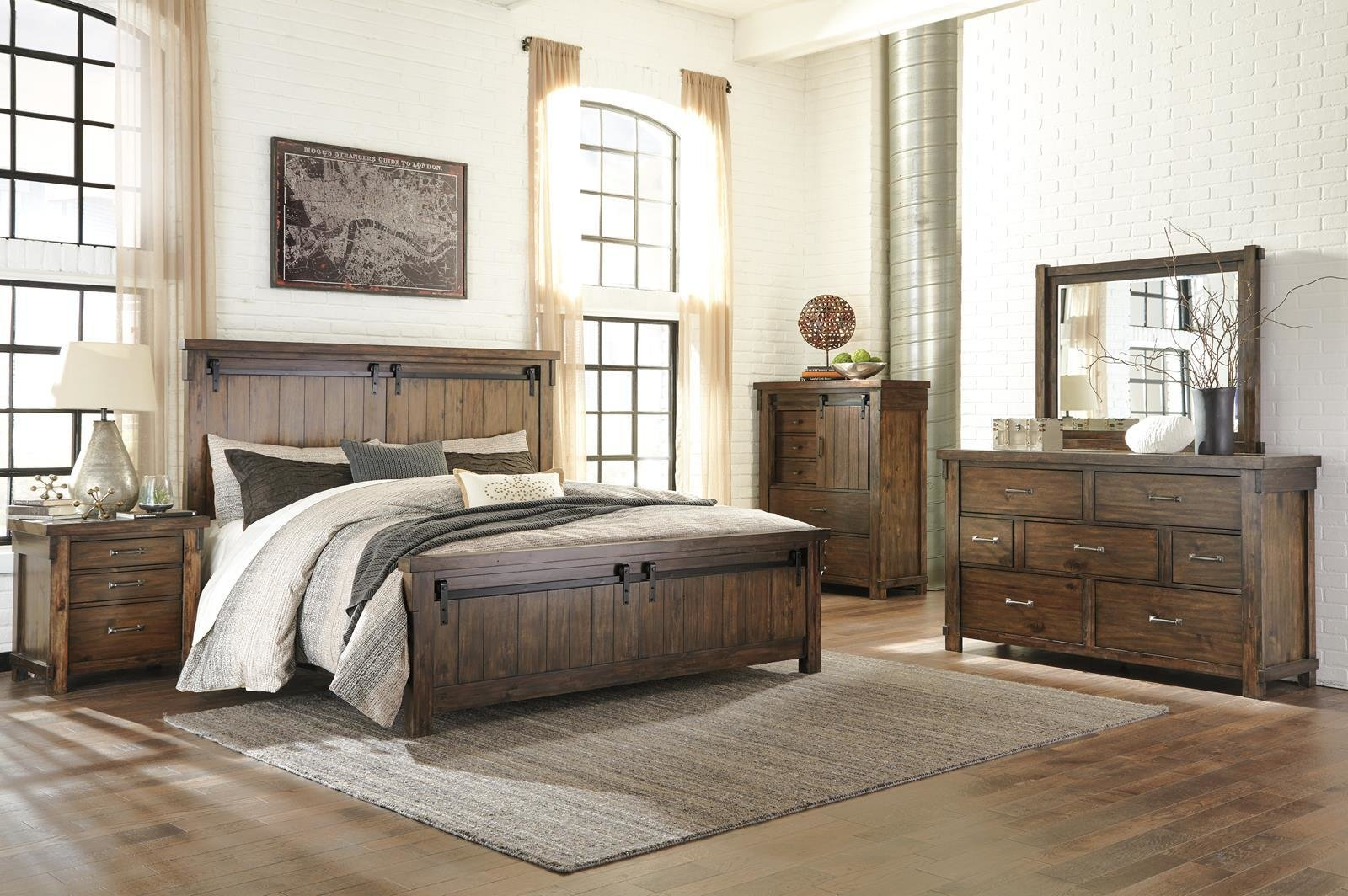 Best Lakeleigh 4Pc Panel Bedroom Set In Brown Lakeleigh With Pictures