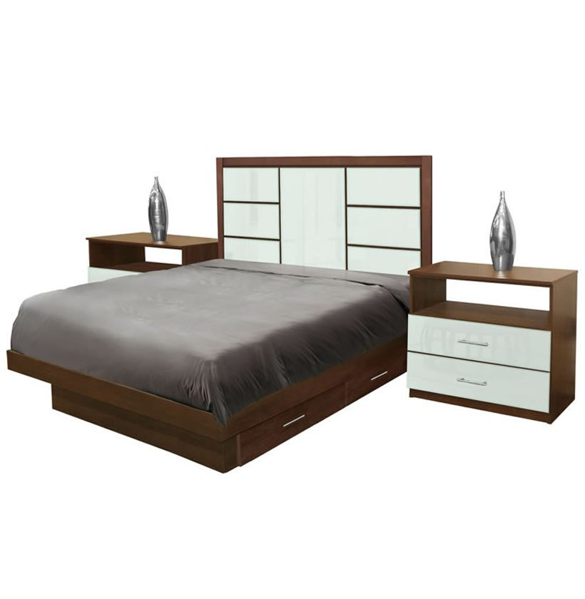 Best Downtown Full Size Bedroom Set W Storage Platform With Pictures