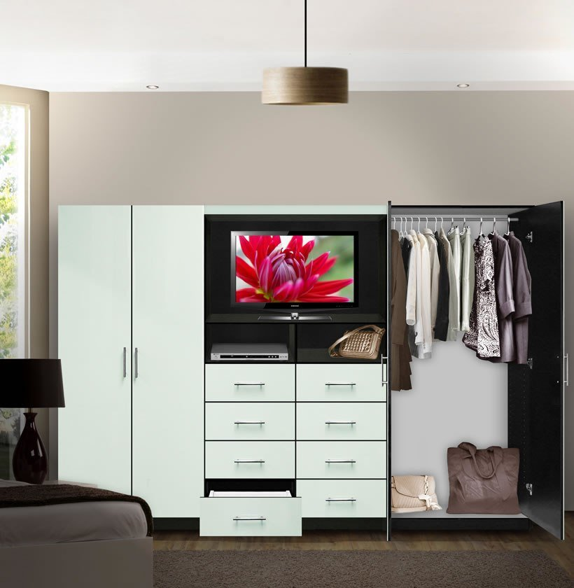 Best Aventa Tv Wall Unit For Bedrooms Bedroom Wall Unit 8 With Pictures