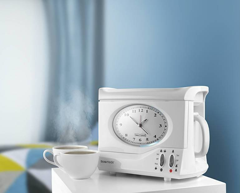 Best Bedside Tea Making Alarm Clock For Usa In White Color With Pictures