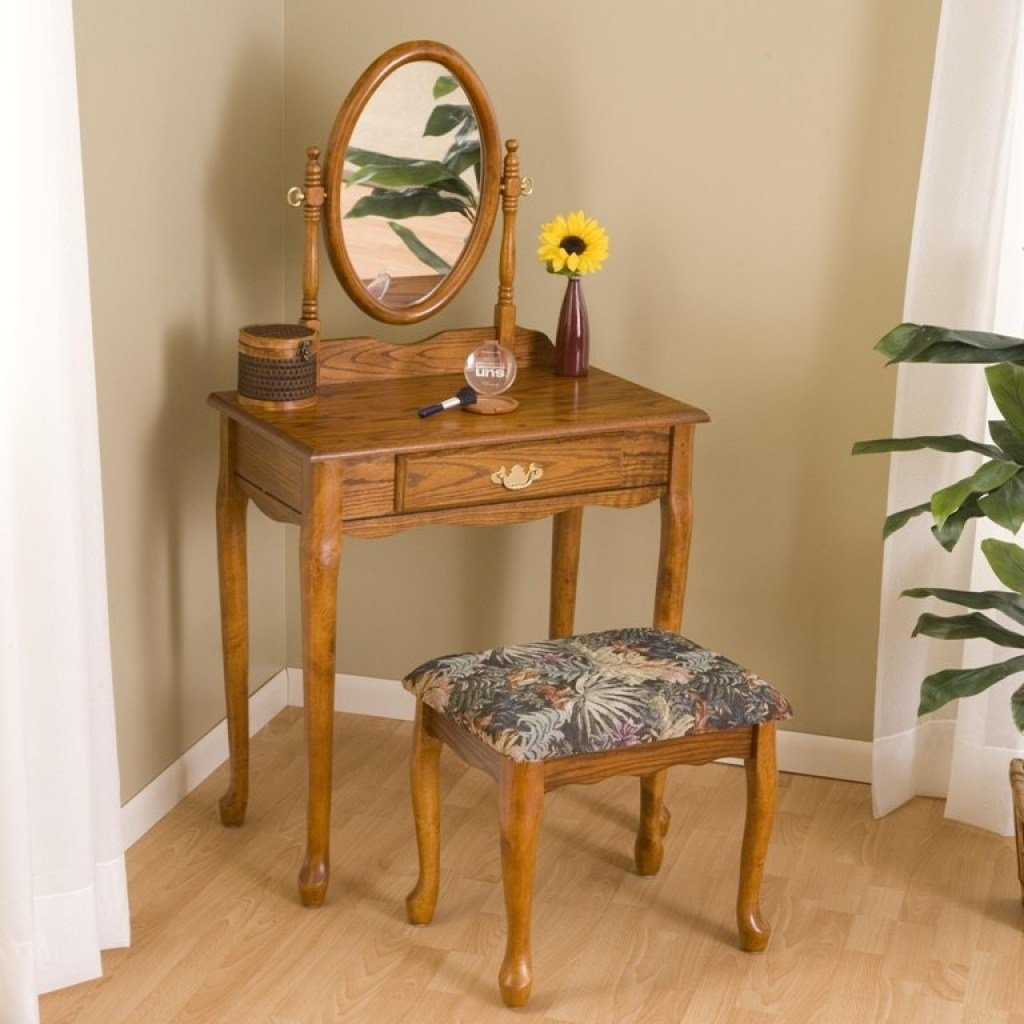 Best Oak Vanity Table Shelby Knox With Pictures