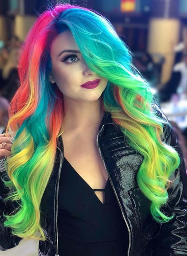 Free 97 Cool Rainbow Hair Color Ideas To Rock Your Summer Wallpaper