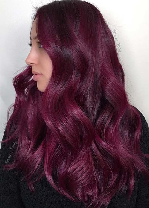 Free 49 Of The Most Striking Dark Red Hair Color Ideas Wallpaper