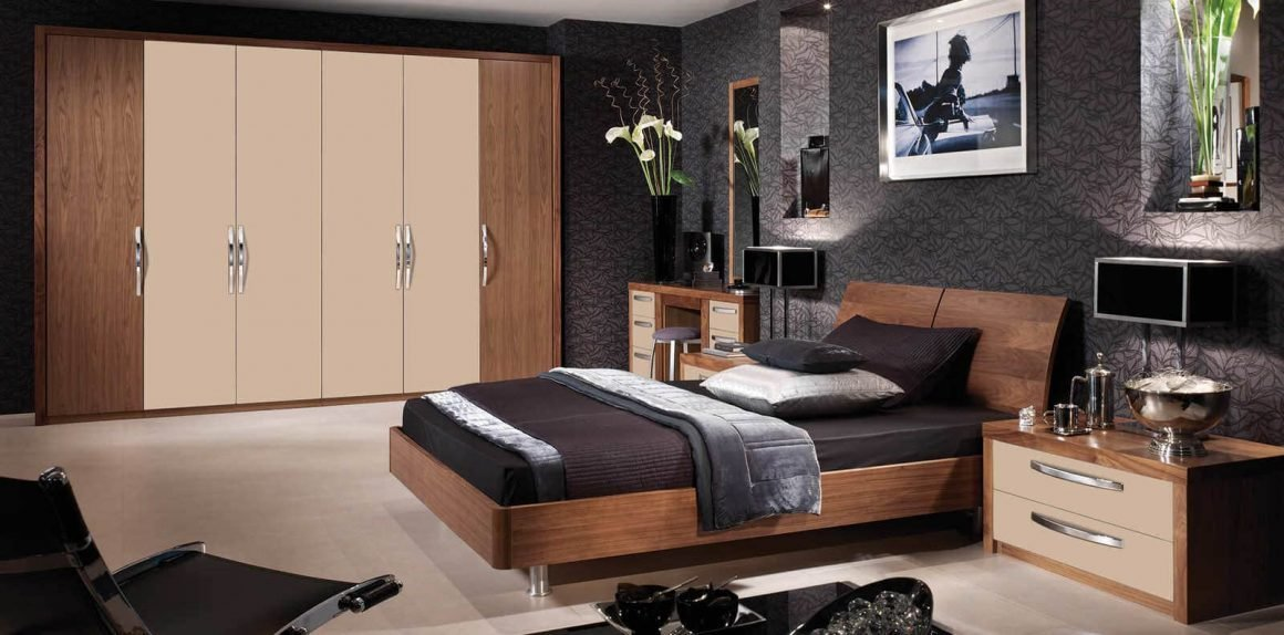 Best Modern Cappuccino American Walnut Fitted Bedroom Strachan With Pictures