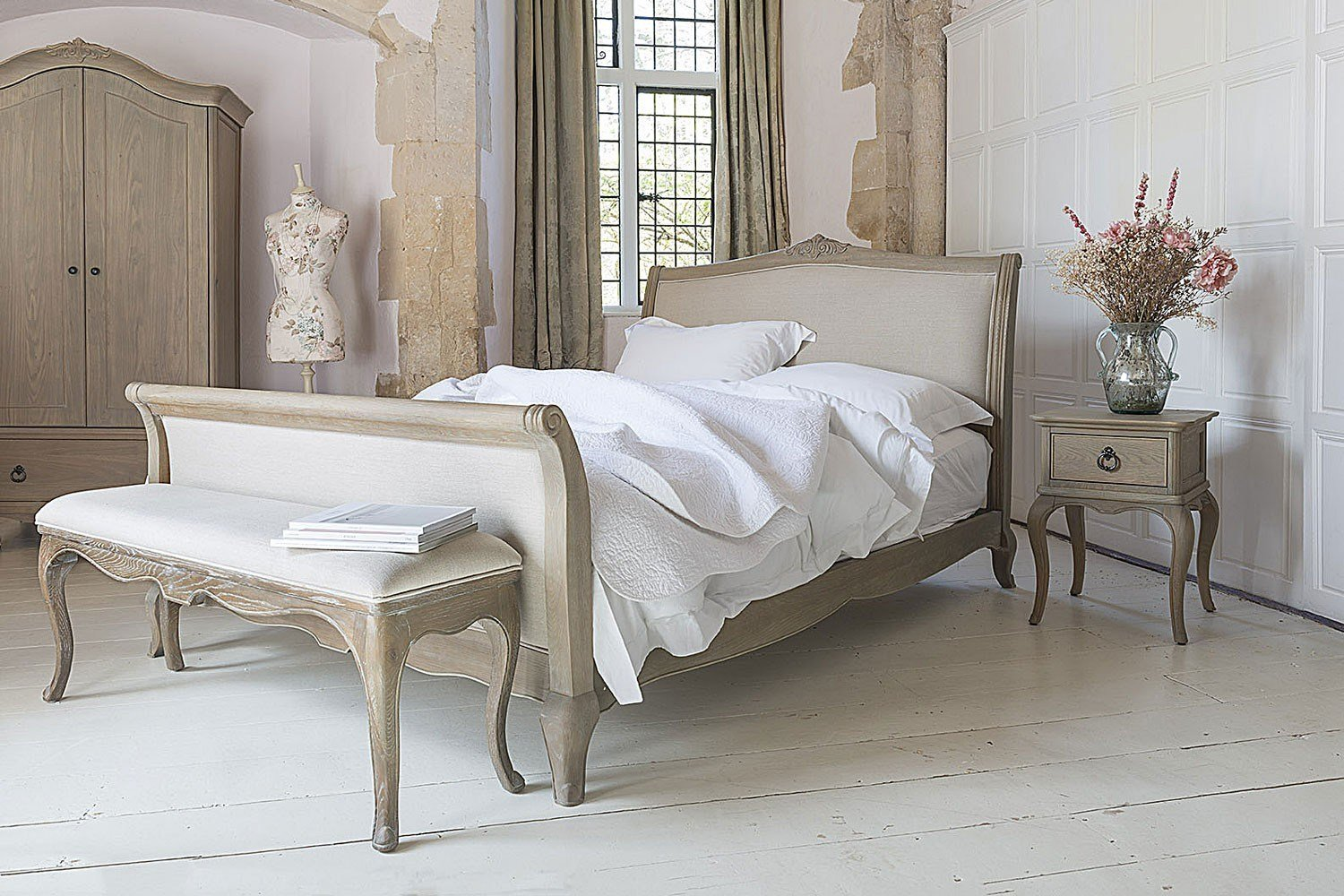 Best Camille French Style Upholstered Bed Crown French Furniture With Pictures