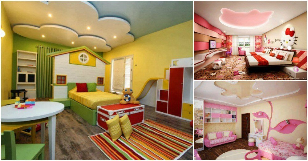 Best Outstanding Gypsum Board Designs For Your Kids Bedroom With Pictures