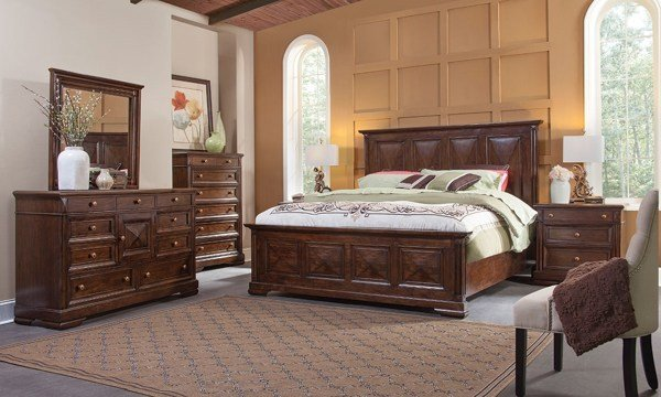 Best Tuscaloosa Solid Mahogany And Cherry King Bedroom Set The With Pictures