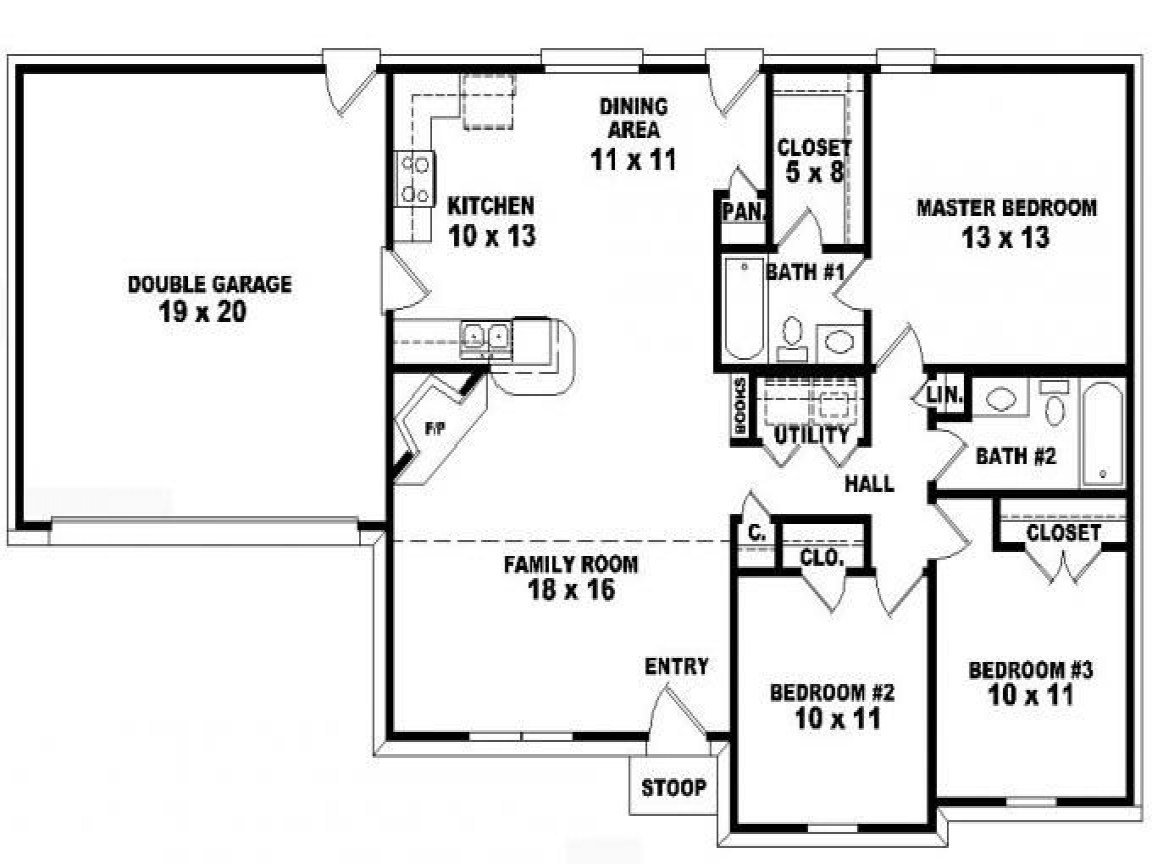 Best 3 Bedroom Ranch Floor Plans — Modern House Plan Modern With Pictures
