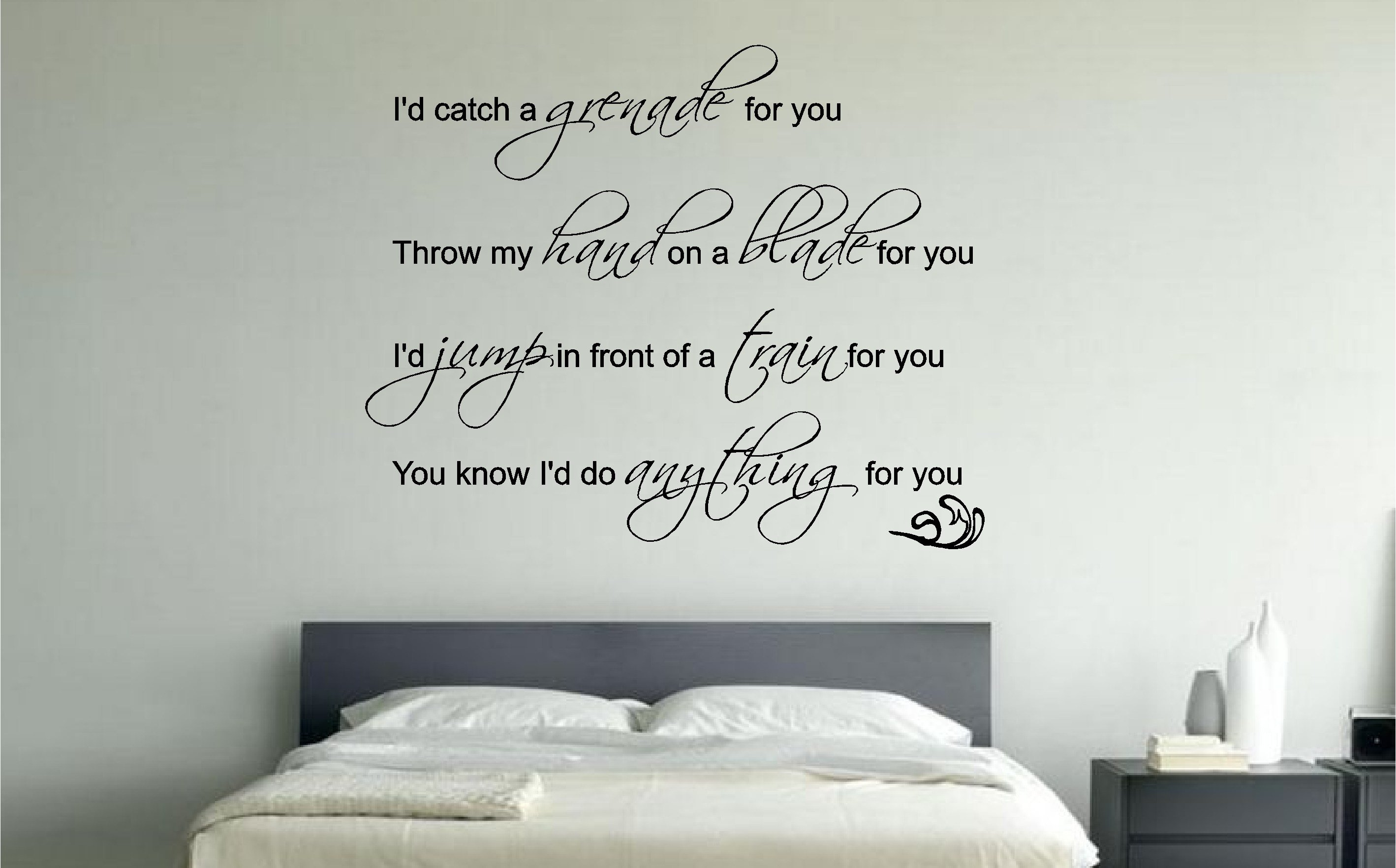 Best Bruno Mars Grenade Lyrics Music Wall Art Sticker Decal With Pictures
