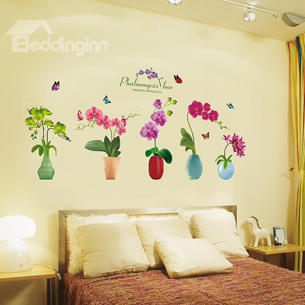 Best Gorgeous Flower Vases Bedroom Dining Room Removable Wall With Pictures