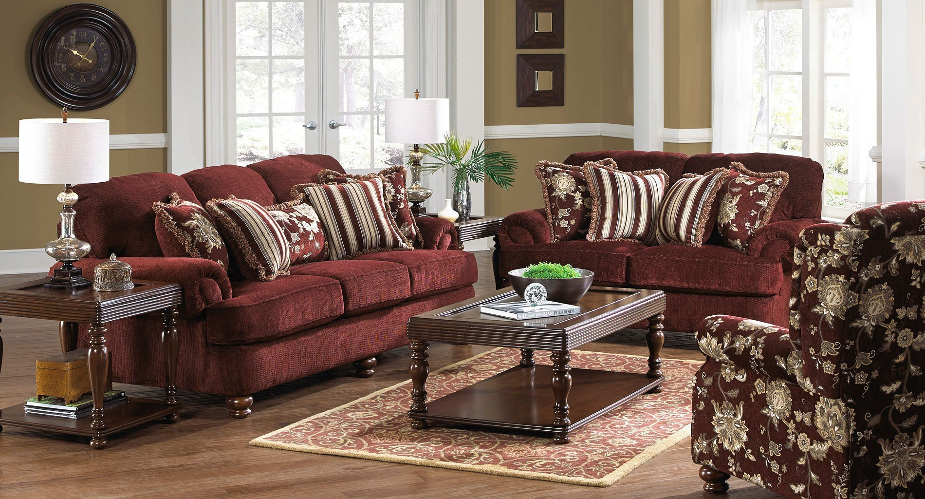 Best Belmont Living Room Set Claret Jackson Furniture With Pictures