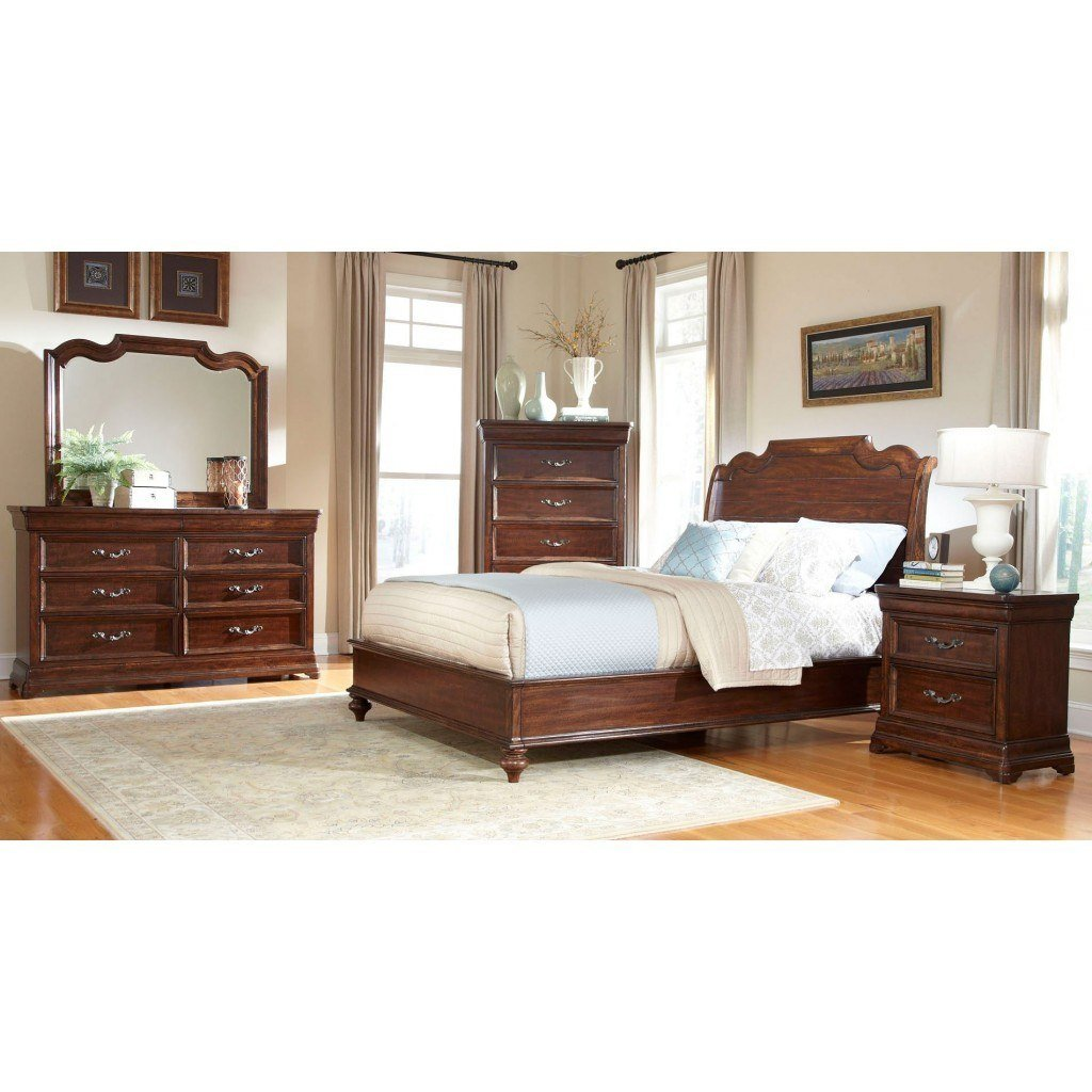 Best Signature Sleigh Bedroom Set American Woodcrafters With Pictures