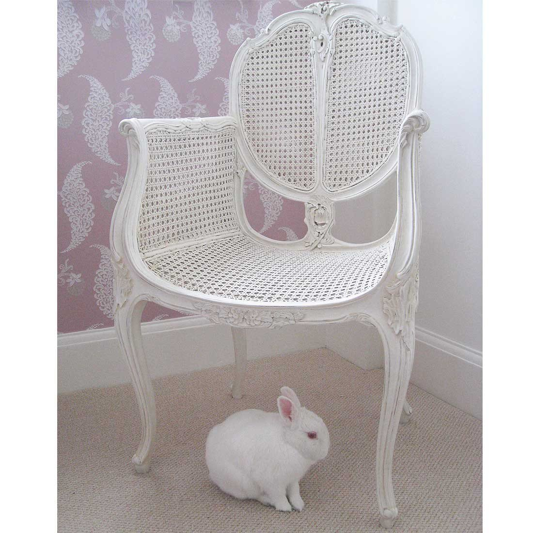 Best Provencal Rattan White Chair Bedroom Chair With Pictures