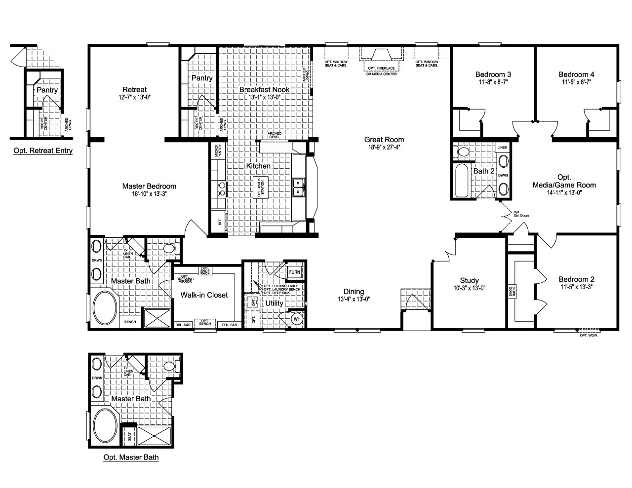 Best 4 Bedroom Double Wide Floor Plans Awesome House Designs With Pictures