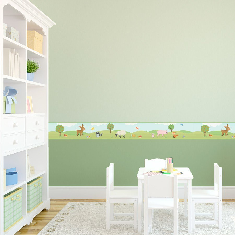 Best Woodland Wallpaper Border Removable Wallums With Pictures