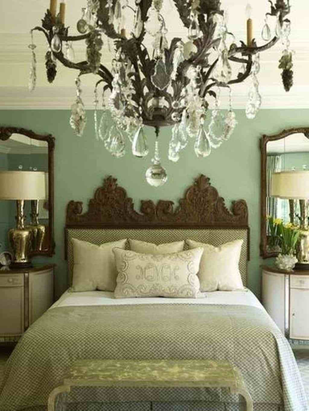 Best Bedroom With Sage Green Warm Paint Colors And Crystal With Pictures