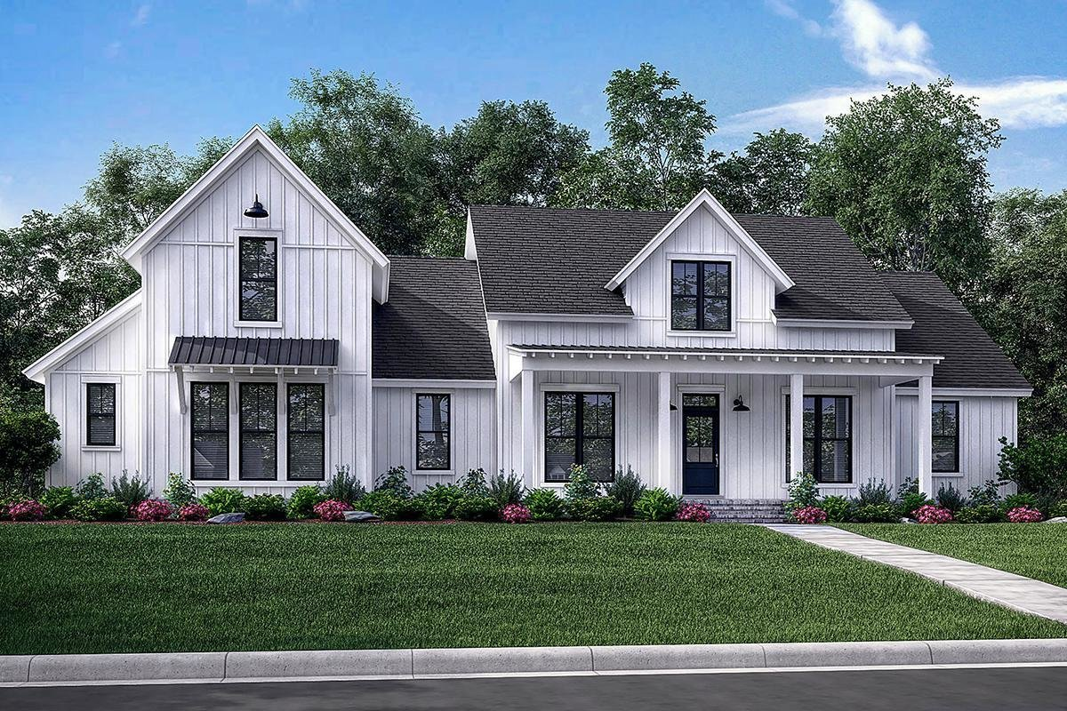 Best Modern Farmhouse Plan 2 742 Square Feet 4 Bedrooms 3 5 With Pictures