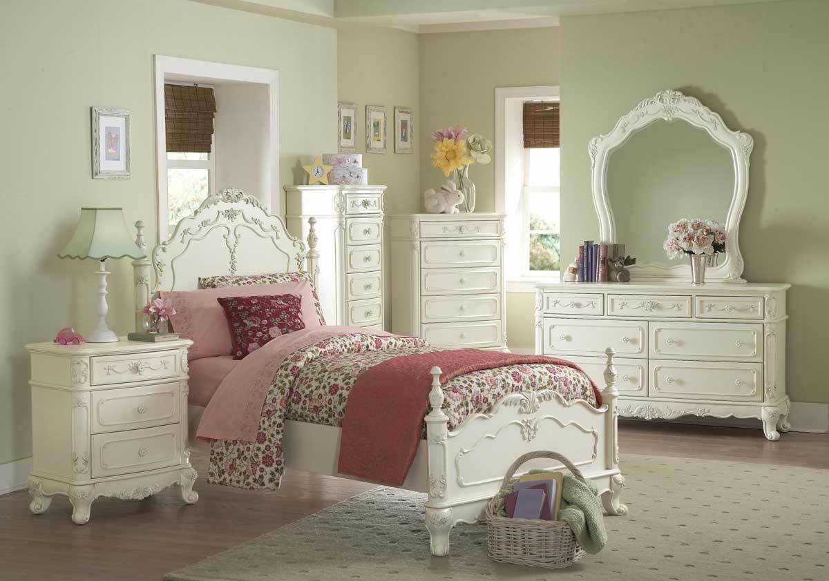 Best Homelegance Cinderella Bedroom Collection Ecru B1386 At Homelement Com With Pictures