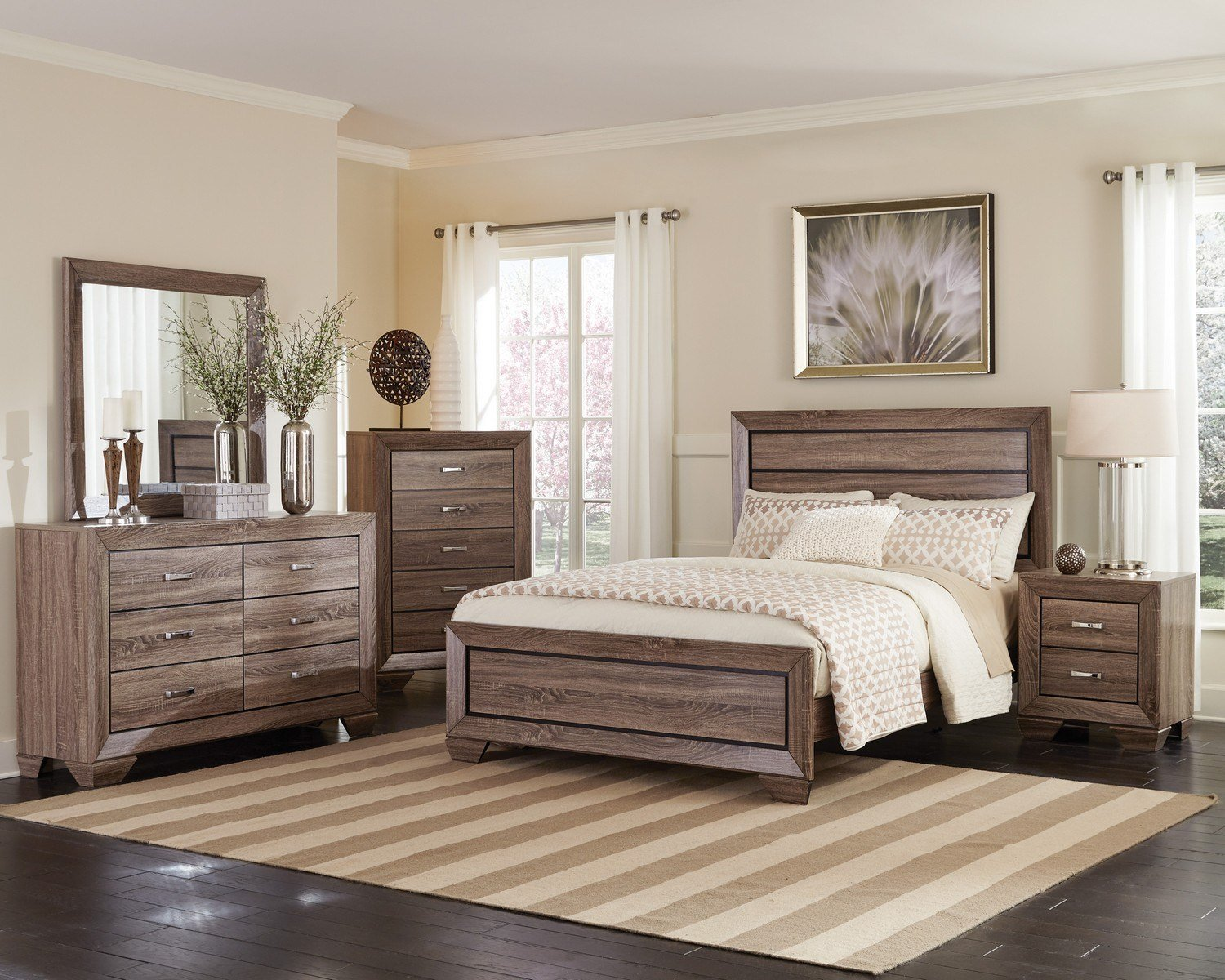 Best Coaster Kauffman Bedroom Collection Washed Taupe 204191 With Pictures