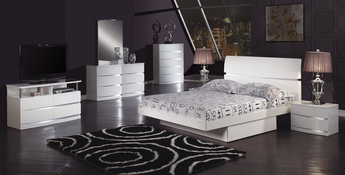 Best Global Furniture Usa Aurora Platform Bedroom Set White With Pictures