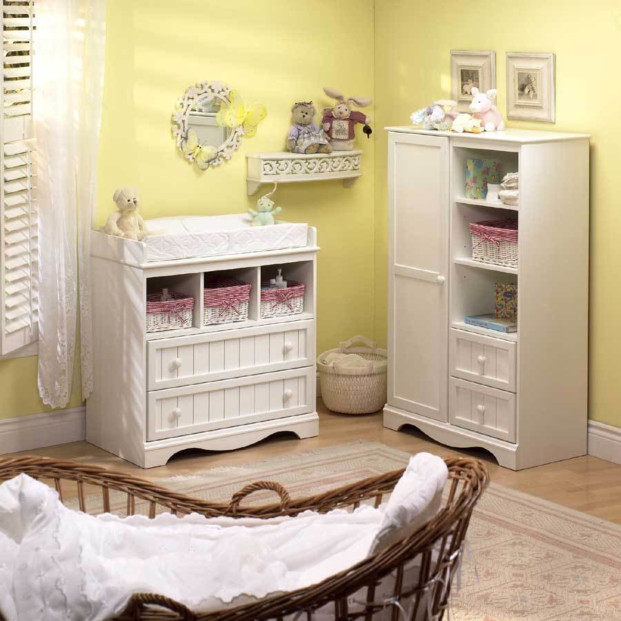 Best South Shore Country Baby Furniture Pure White Nursery Collection 3580 Set At Homelement Com With Pictures