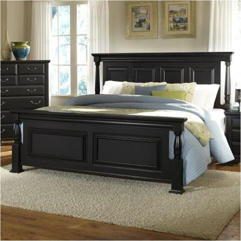 Best 784 669 Vaughan Bassett Furniture Eastern King Poster Bed Black With Pictures