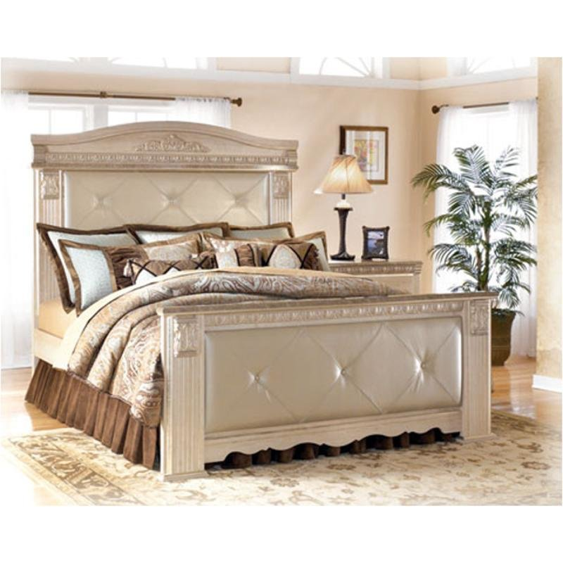 Best B174 98 Ashley Furniture Silverglade Bedroom Queen Mansion With Pictures