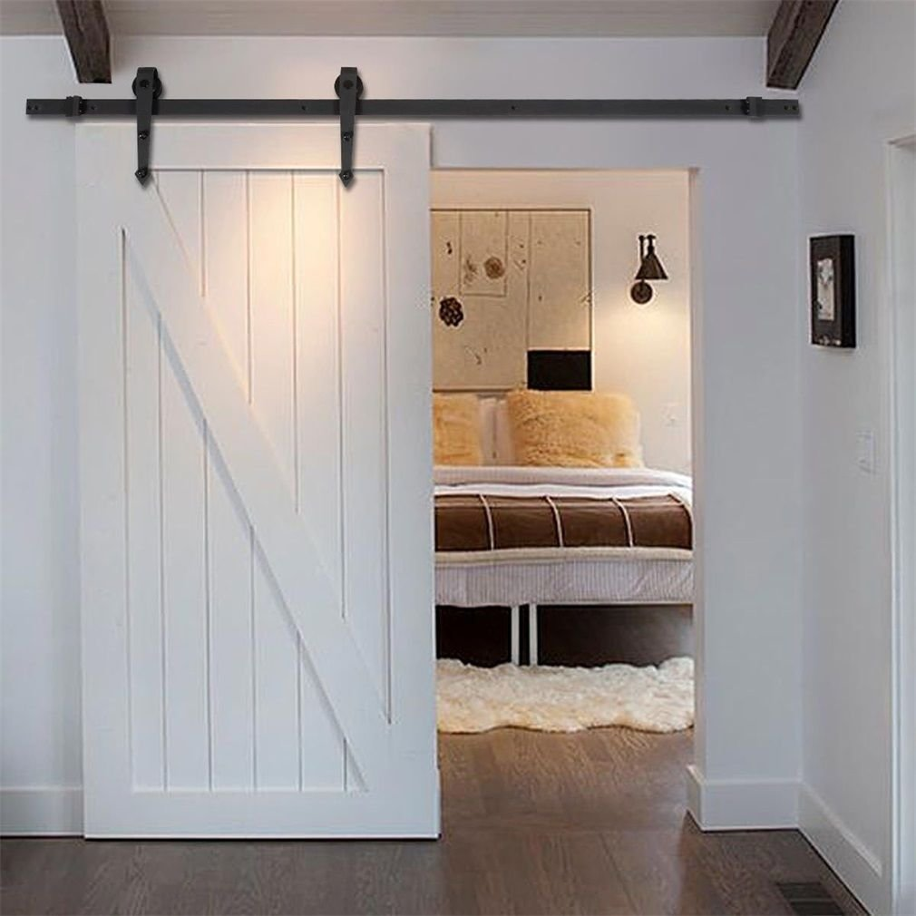 Best 10Ft Country Barn Wood Steel Sliding Door Hardware Closet With Pictures