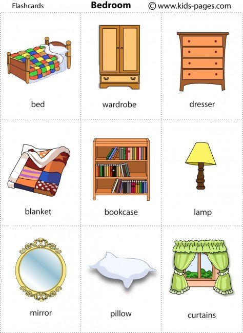Best Bedroom Flashcard With Pictures