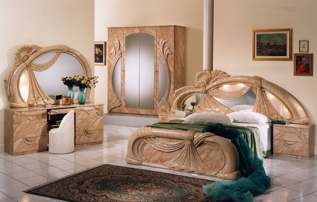 Best Gina Salome Marble Italian Classic 3 Piece Bedroom Set With Pictures