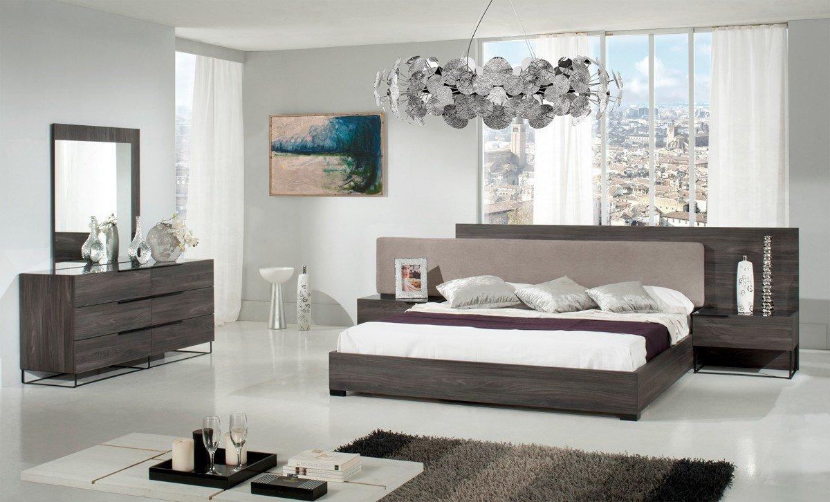 Best Nova Domus Enzo Italian Modern Grey Oak Fabric Bed W With Pictures