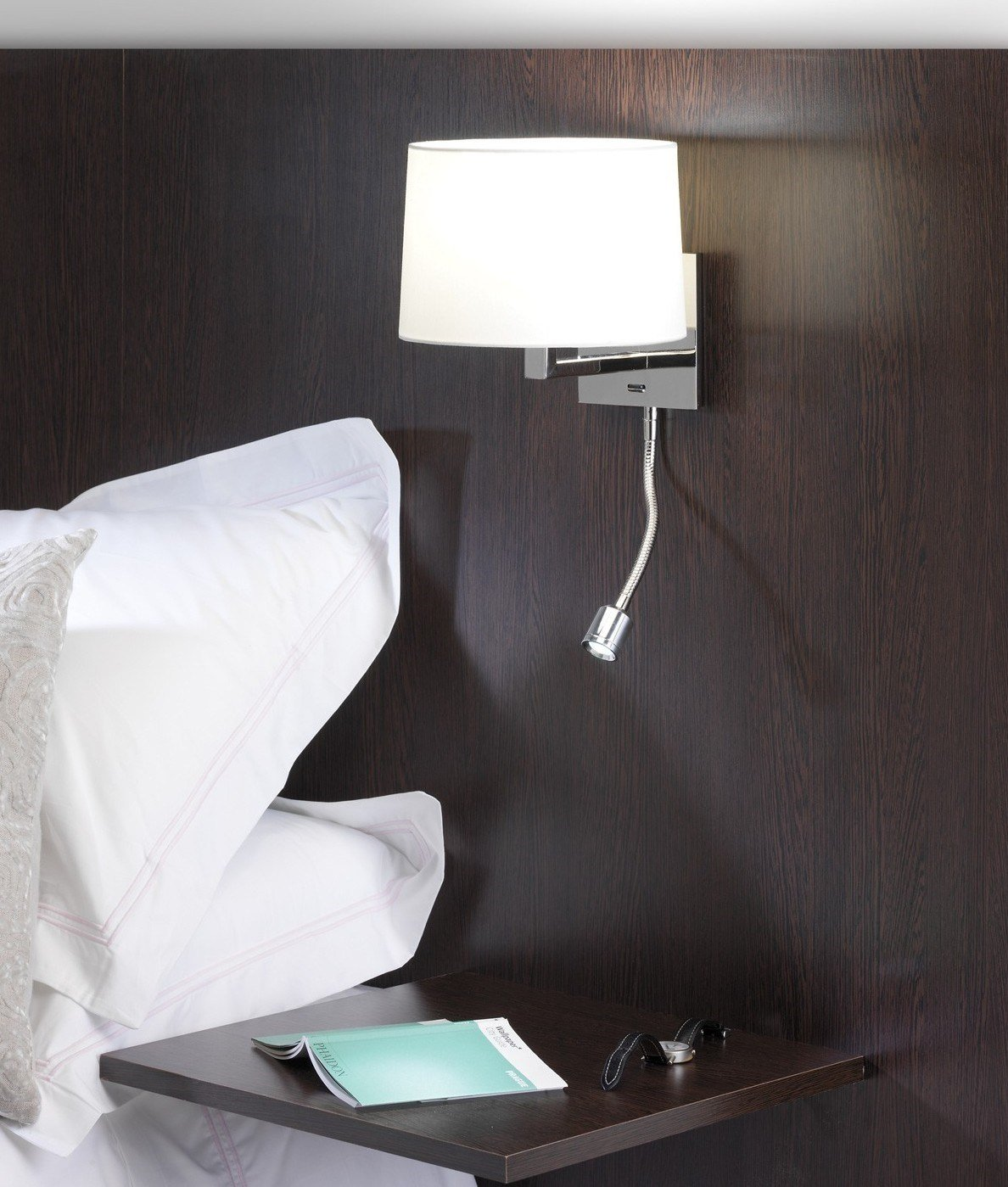 Best Small Bedside Wall Light Led Polished Nickel With Pictures