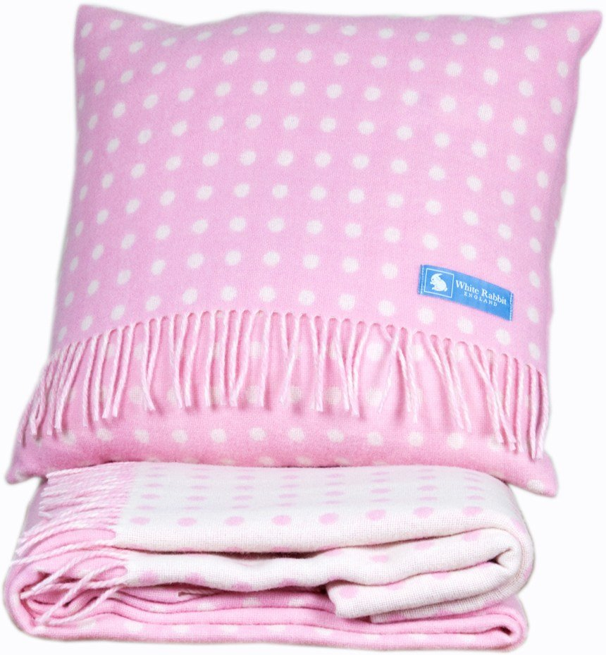 Best Childrens Pink Spotty Cushion White Rabbit England With Pictures