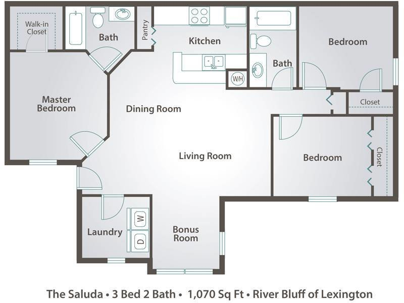 Best Apartment Floor Plans Pricing – River Bluff Of Lexington With Pictures