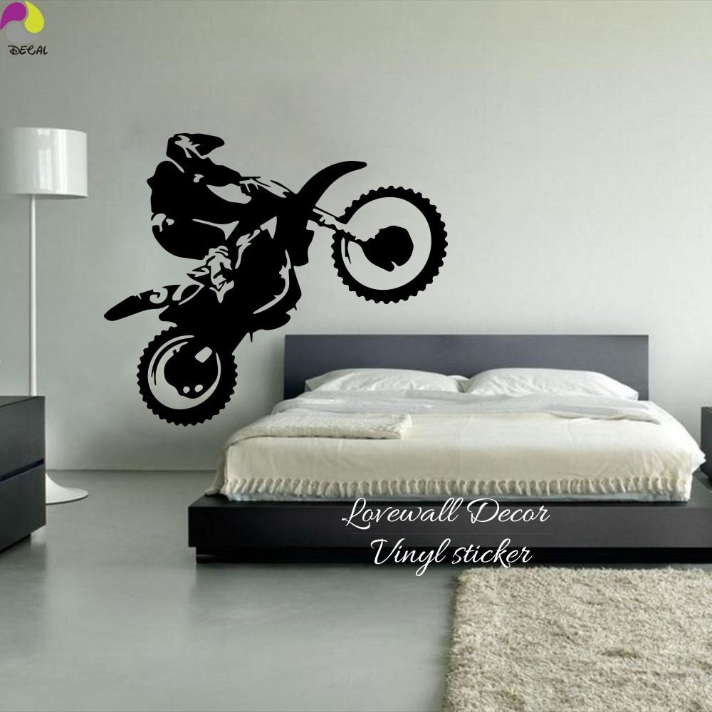 Best Motocross Wall Sticker Bedroom Boy Room Dirt Bike Dirtbike With Pictures