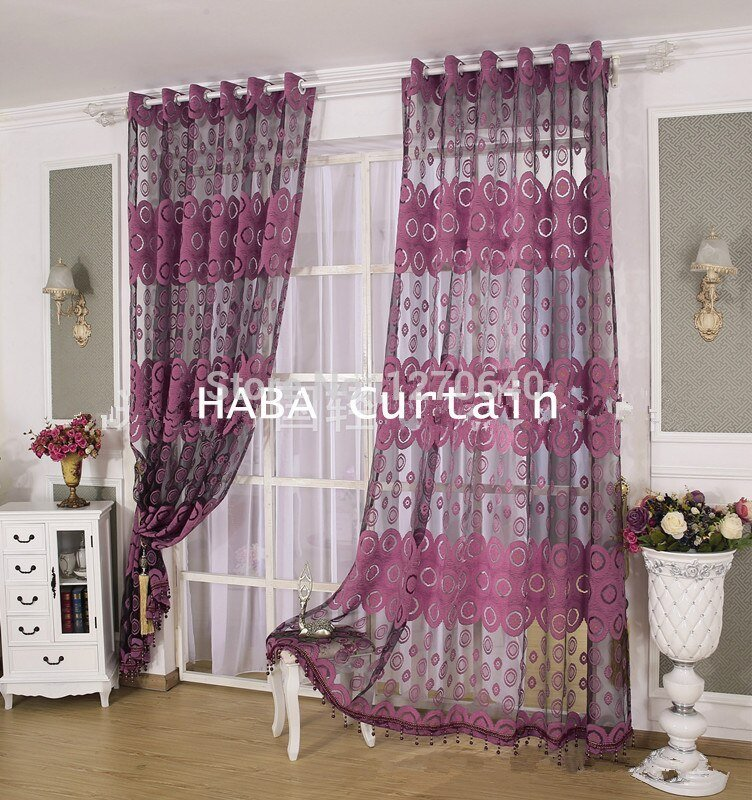 Best 2Color Beautiful Curtain Design Ideas Tulle Voile Window With Pictures