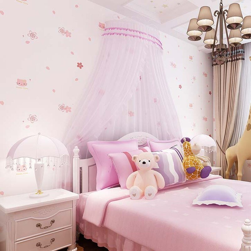 Best 10M Girls Children S Bedroom Background Cute Hello Kitty With Pictures