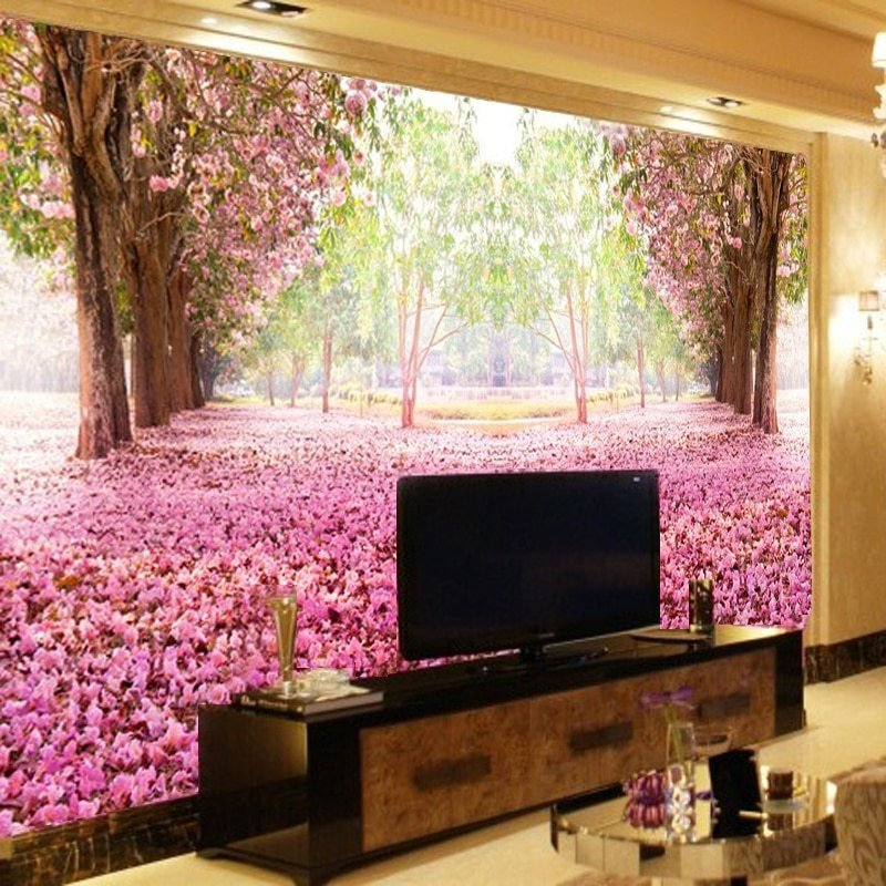 Best Tv Backdrop Romantic Bedroom Wallpaper Murals 3D Wallpaper With Pictures