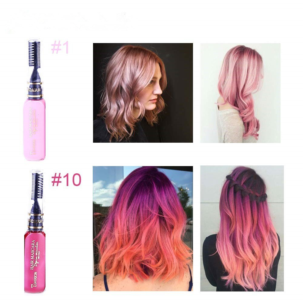 Free 13 Colors One Off Hair Color Dye Temporary Non Toxic Diy Wallpaper