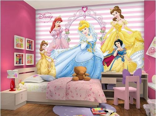 Best Photo Wallpaper 3D Stereoscopic Wallpaper Disney Princess With Pictures